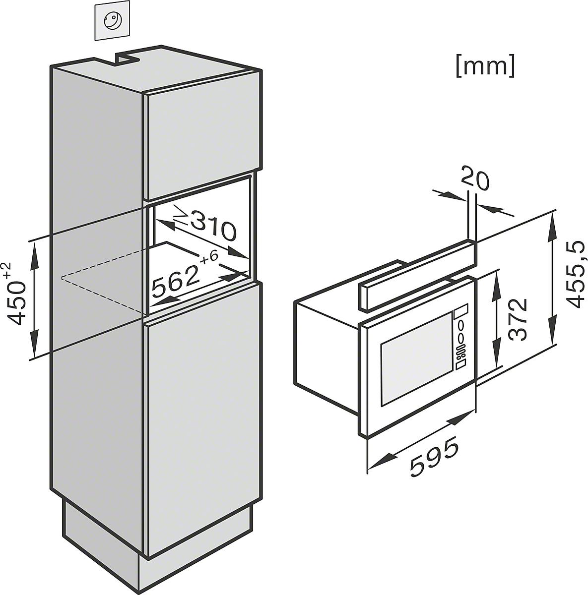 miele micro ondas m 6032 sc micro ondas de encastrar. Black Bedroom Furniture Sets. Home Design Ideas